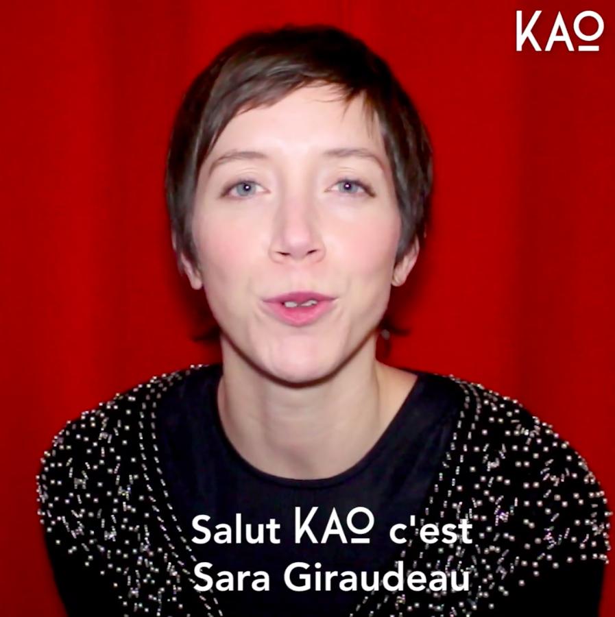 Sara Giraudeau - KAO MAG