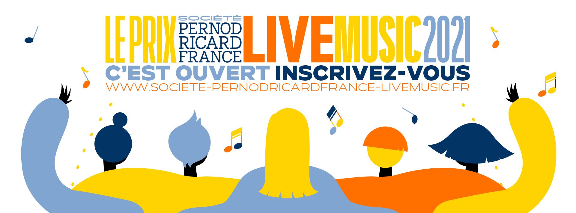 Prix Société Pernod Ricard France Live Music 2021